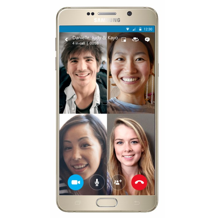 Android gruppen iOS Skype Telefonie Video