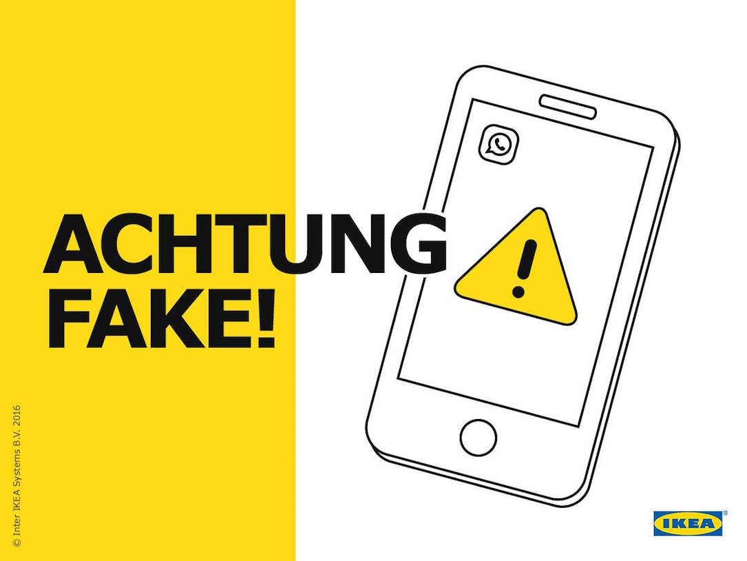 Android fake Gutschein ikea iOS whatsapp