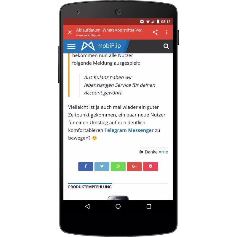 Android chrome Google Netzwerk social