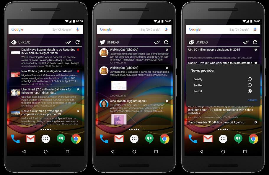 Android Chronus CM widget