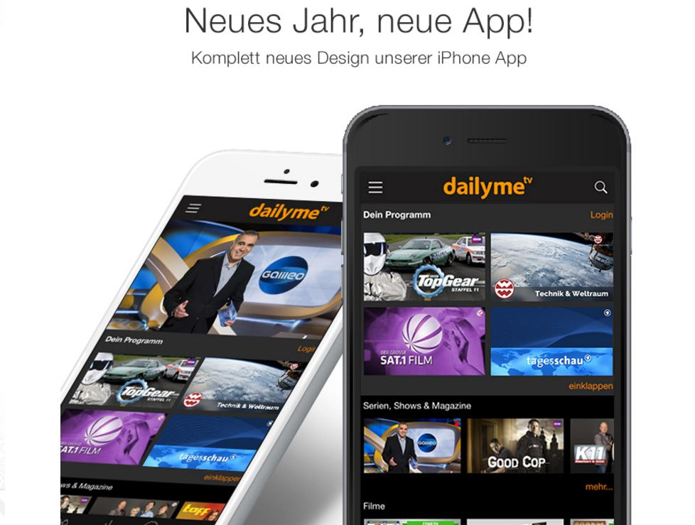 app Apple dailyme iOS TV Update