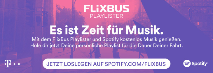 Flixbus Musik playlist spotify