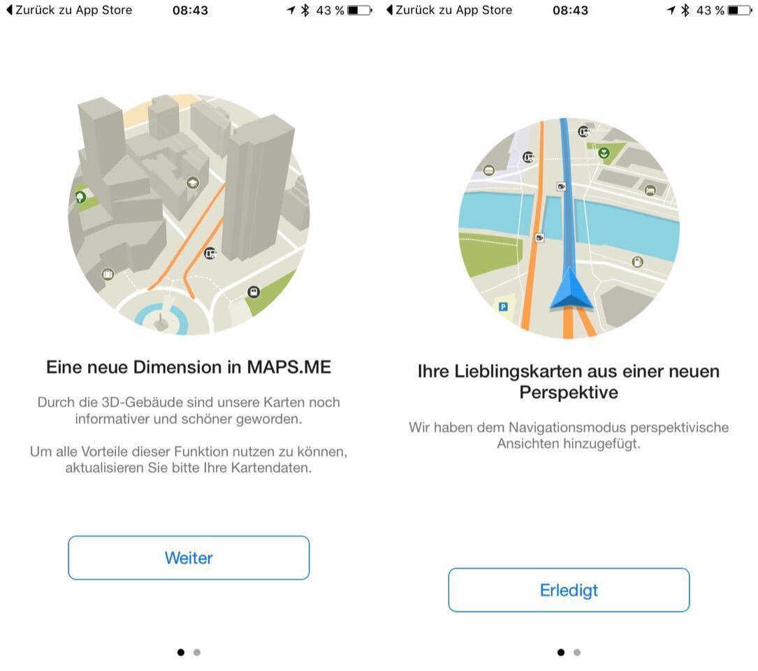 Android iOS karten map Maps navigation Update