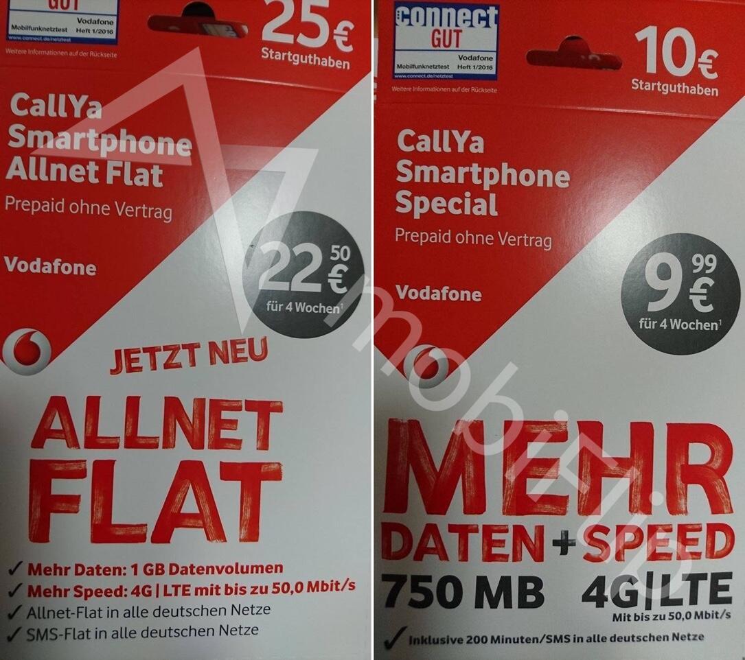 1 aff callya exklusiv Prepaid Vodafone