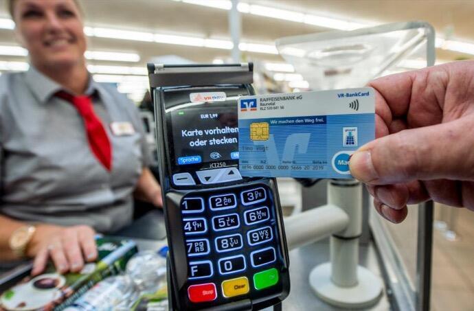 bank bezahlen karte nfc vr