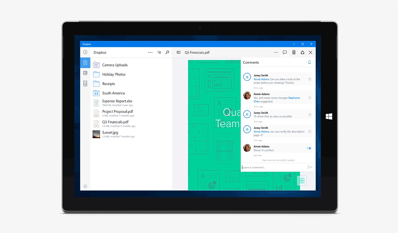 cloud dropbox win Windows Windows 10