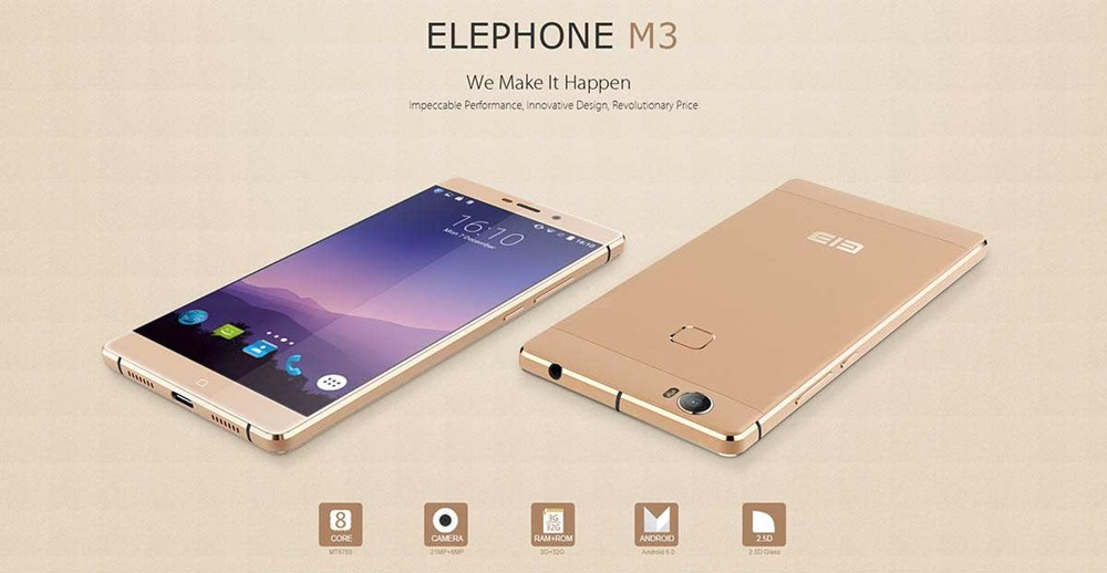 Android Elephone M3 Unboxing Video