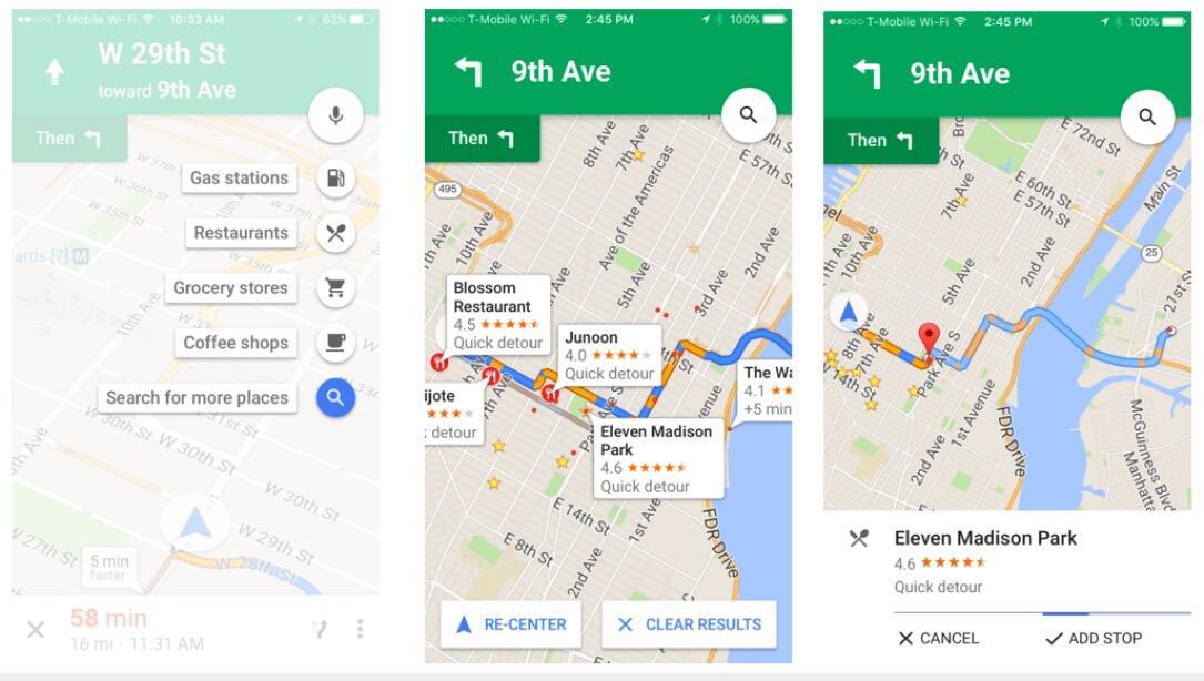 Google iOS Maps navigation Update