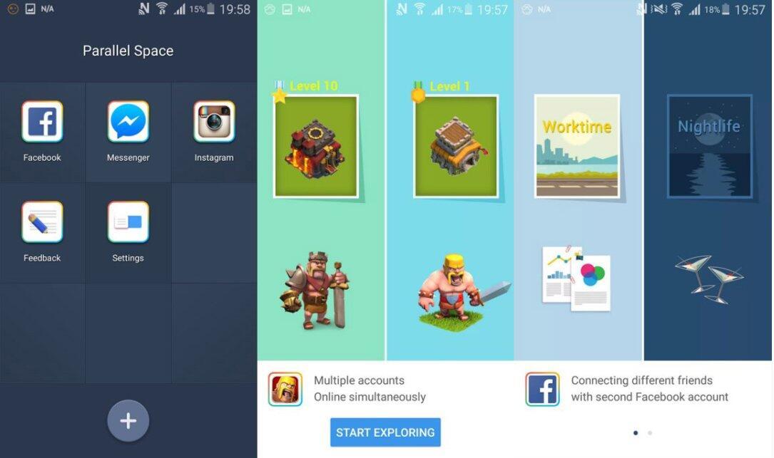 Accounts Android Instanzen Parallel Sandbox