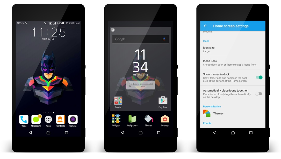 Android Concept for Android launcher Sony