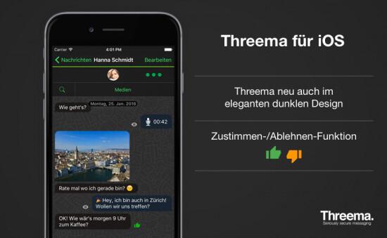 iOS Messenger threema Update