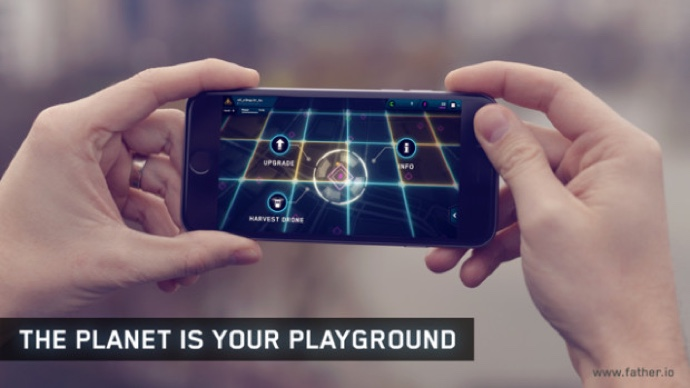 augmented Father i/o Indiegogo laser reality tag