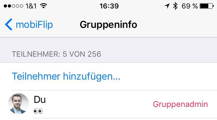 Android gruppe iOS whatsapp