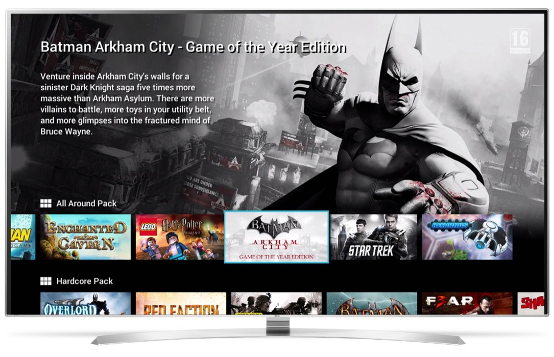 gaming LG streaming TV webOS