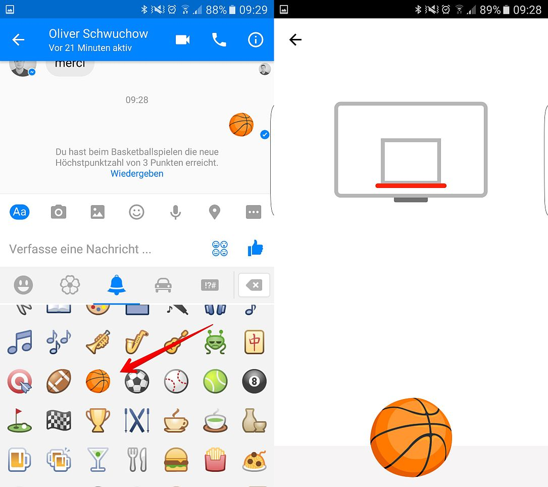 Android Basketball facebook Hidden iOS Messenger