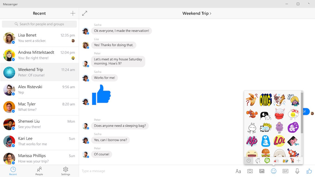 facebook Messenger Windows Windows 10
