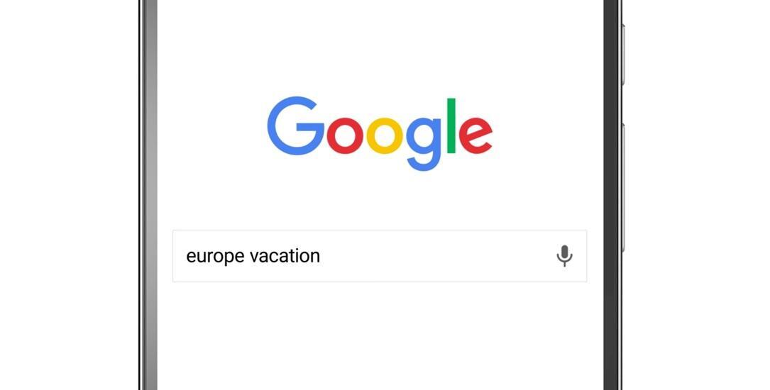 Google planung suche Urlaub