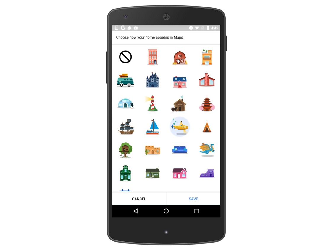 Android Google iOS Maps orte sticker
