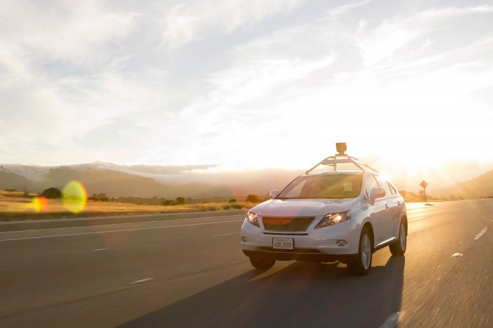 Crash Google lexus Self-Driving-Car Unfall