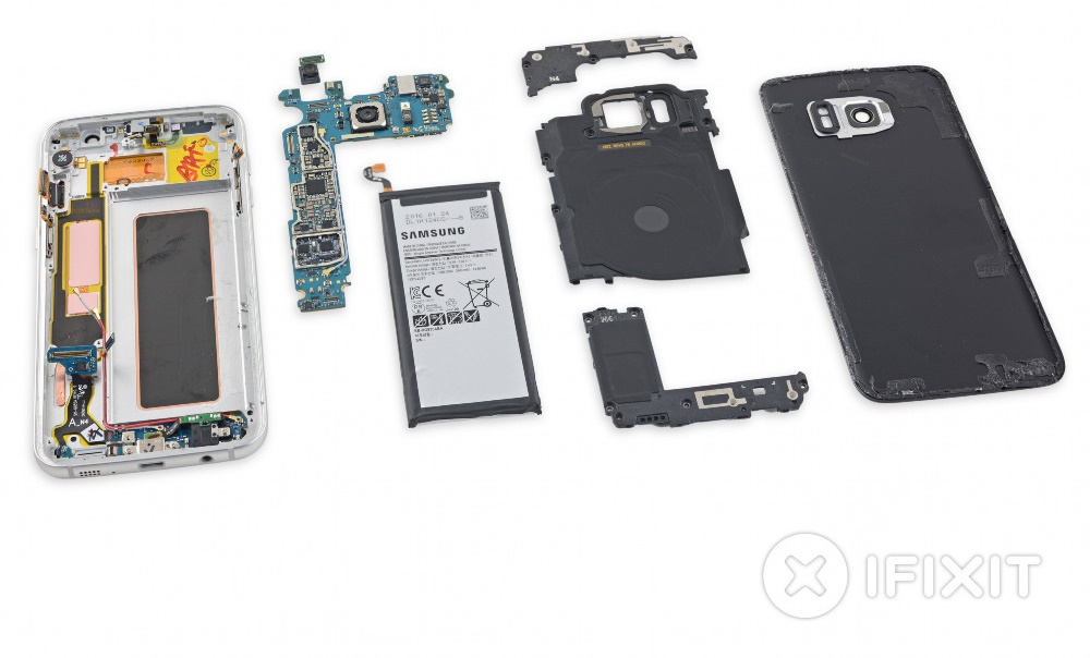 Android Galaxy S7 edge ifixit Samsung teardown