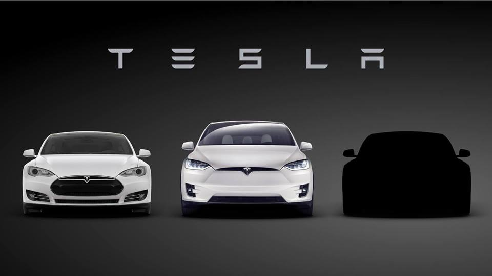 3 auto elektro event Model s tesla x