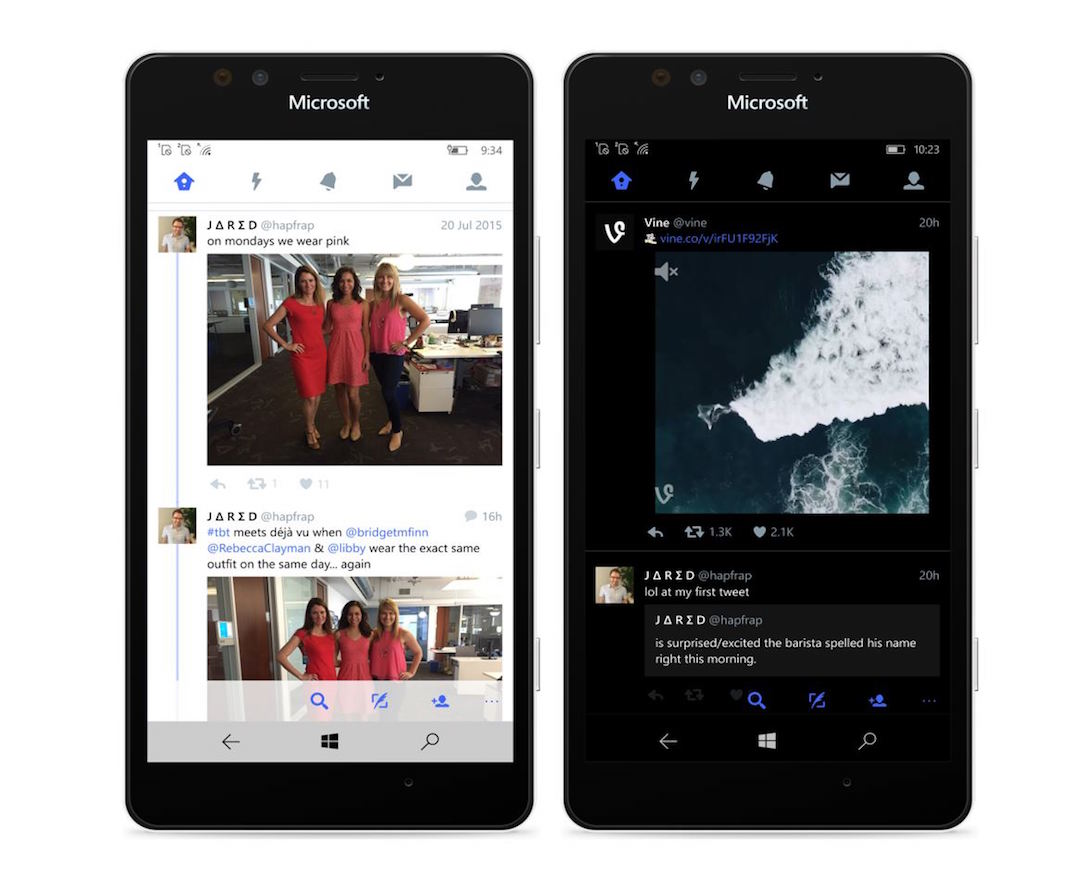 app mobile twitter Update Windows Windows 10