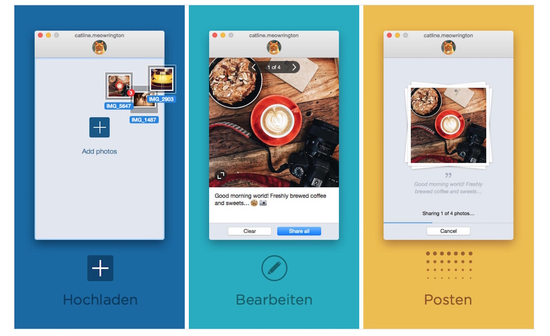 Bulk instagram mac OSX uploader