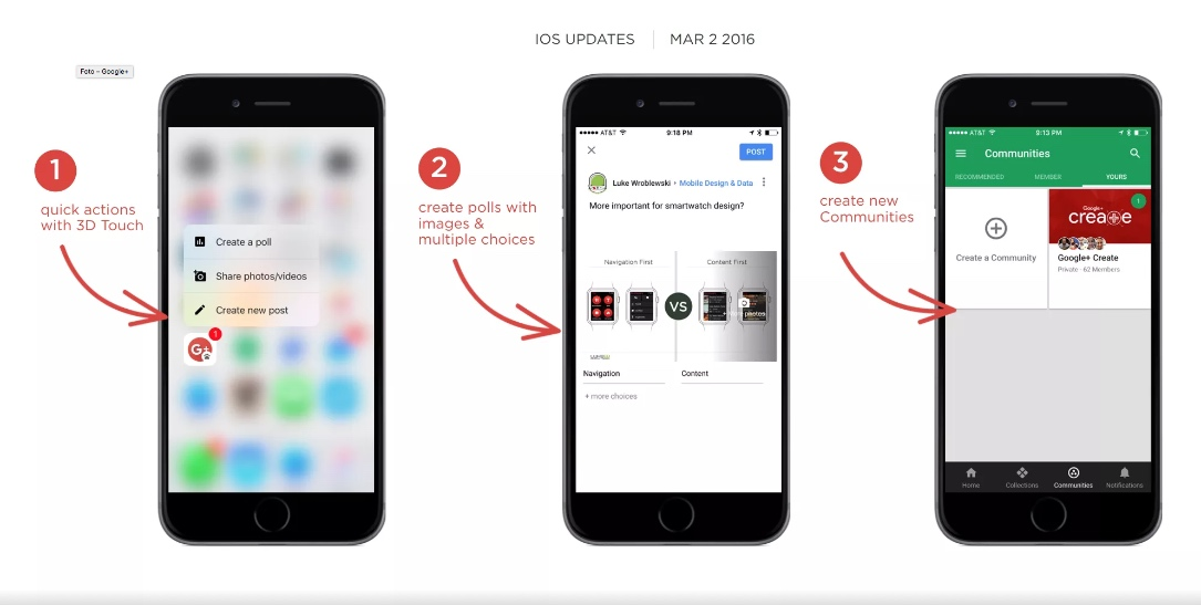 app Apple Google iOS social Update