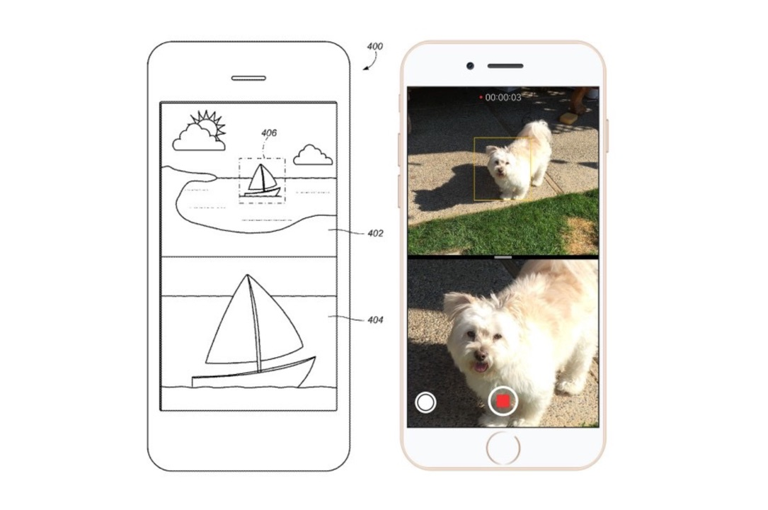 Apple iOS iphone Kamera mockup Patent