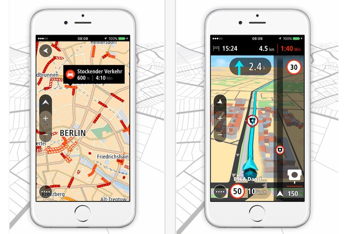 Apple iOS iphone mobile navigation tom tom