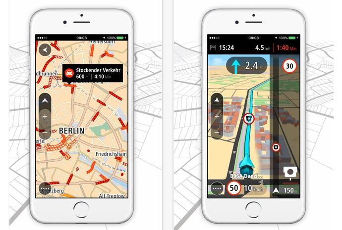 Apple iOS iphone mobile navigation tom tom