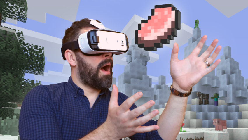 Android fun Game GearVR Minecraft Spiel vr