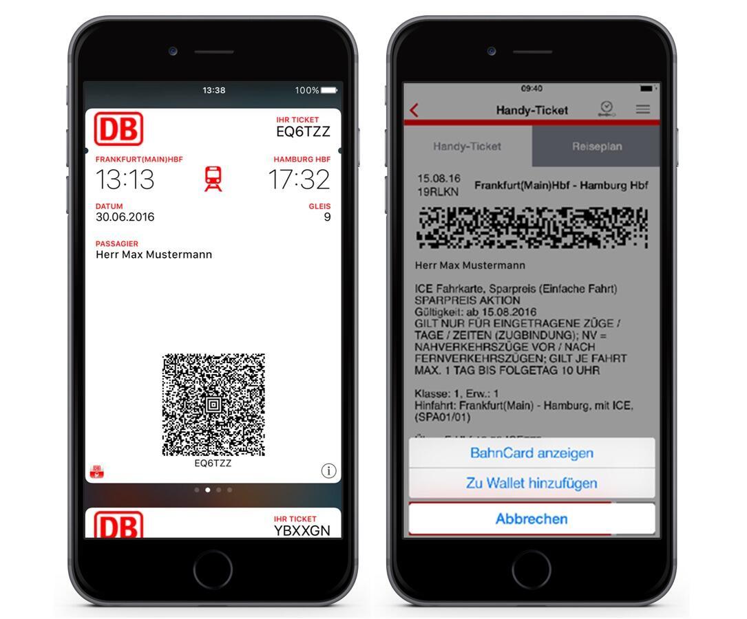 Apple Bahn DB Navigator deutsche iOS iphone Update wallet
