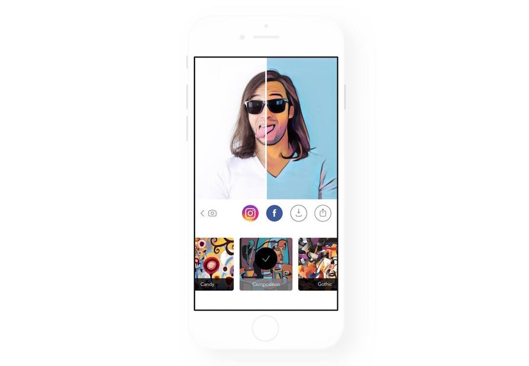 Android app format foto iOS Prisma