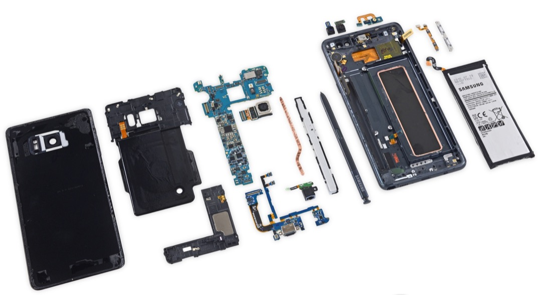 ifixit note note 7 Samsung teardown Video