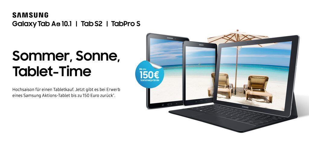 neue cashback aktion samsung tablets bis zu 150 euro g nstiger. Black Bedroom Furniture Sets. Home Design Ideas