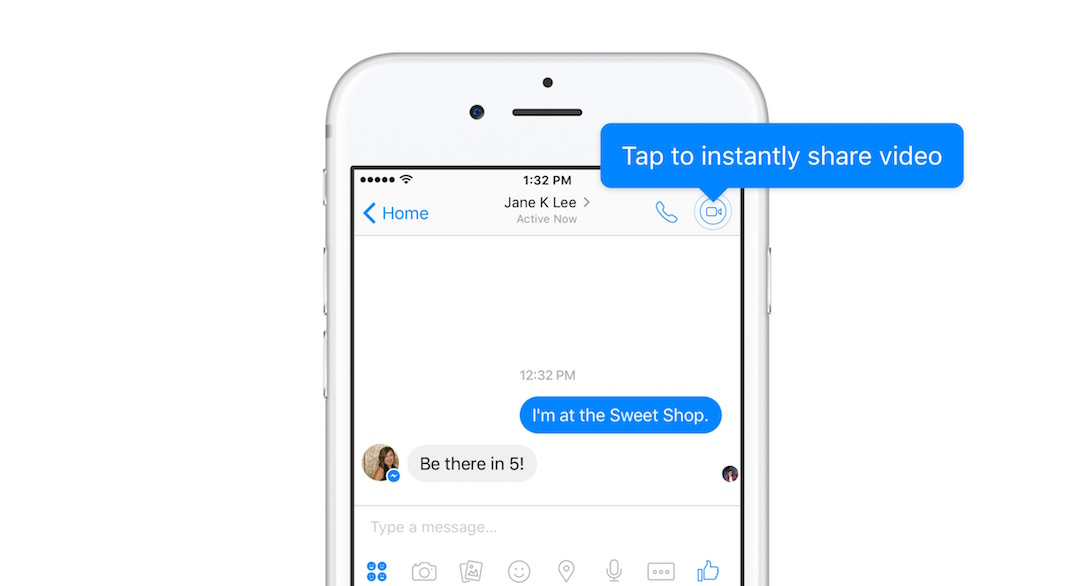 Android facebook instant video iOS Messenger Update