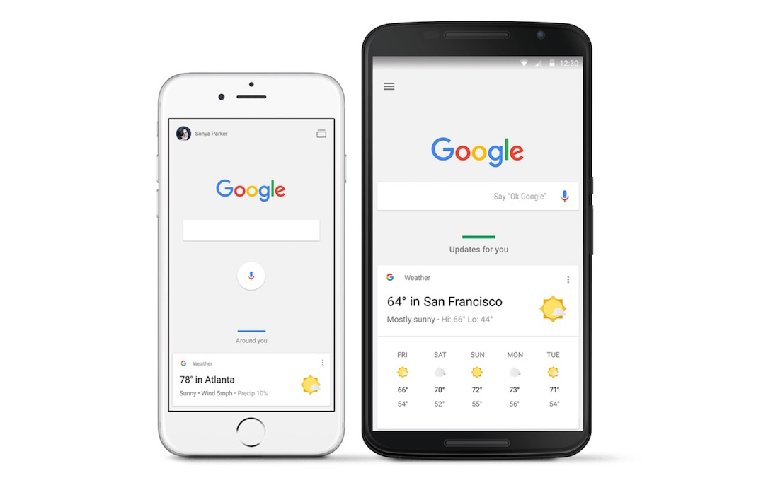 Android app assistant Google iOS now