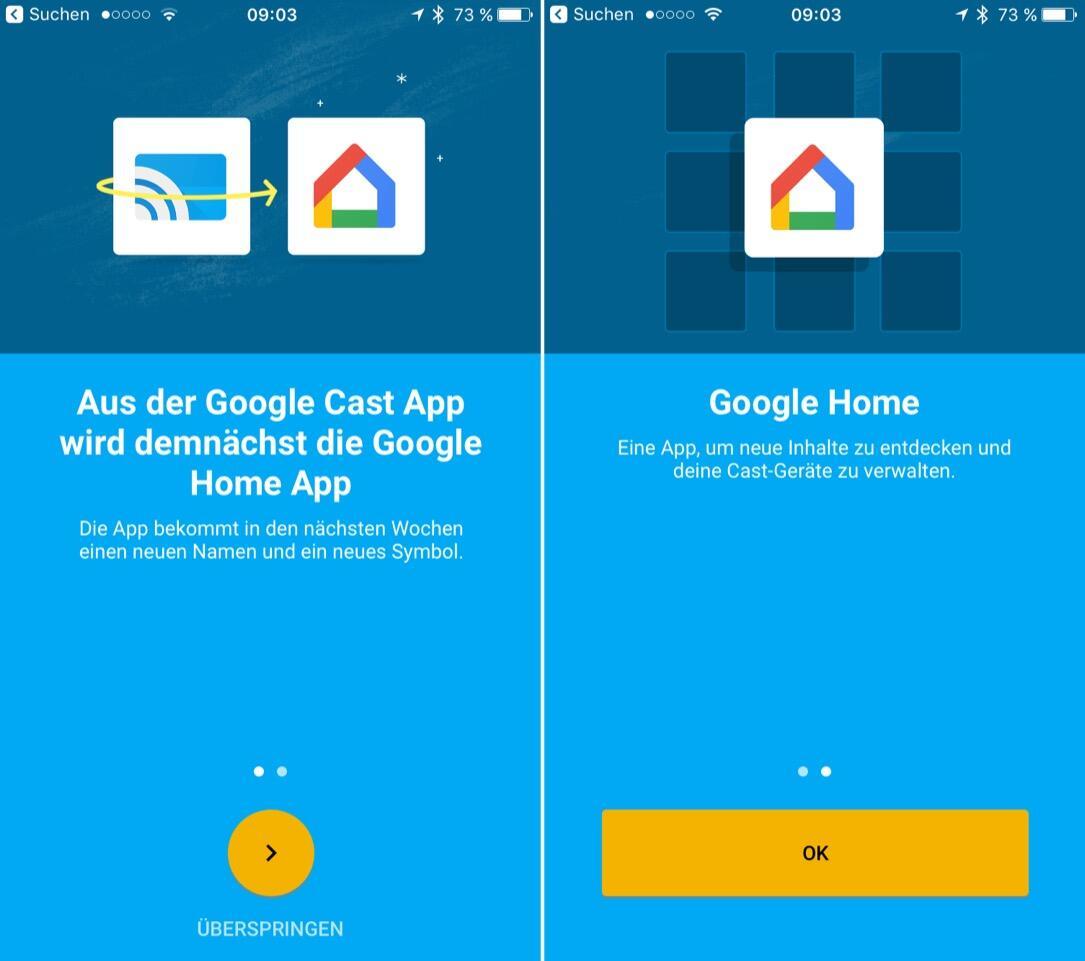 Android app cast Google Google Home home iOS