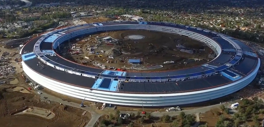 Apple campus campus 2 drohne hauptquartier iOS iphone Video
