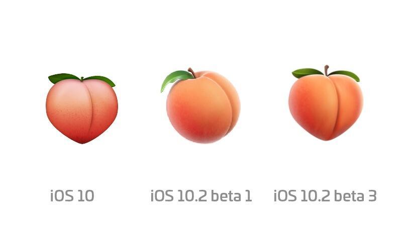 Apple arsch butt Emoji hintern iOS ios 10.2 neu pfirsich