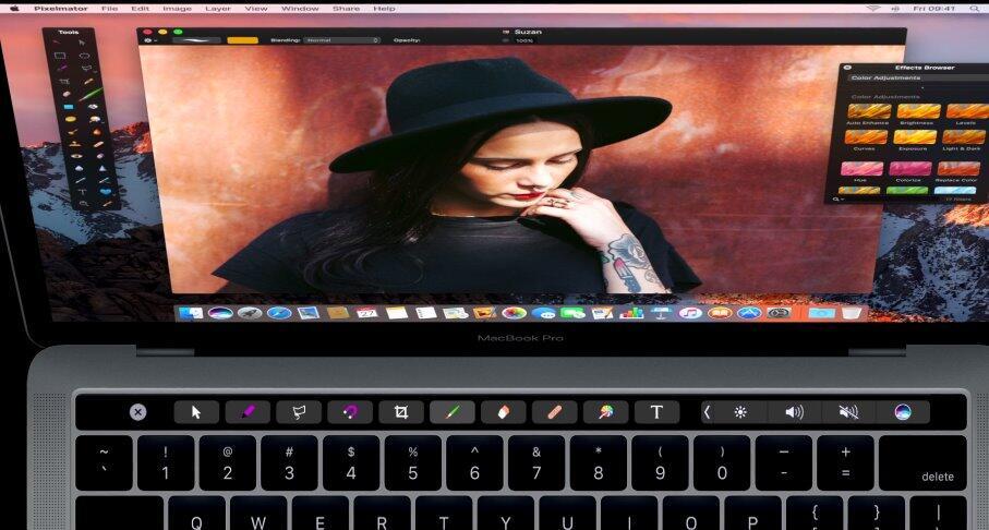 macos photoshop pixelmator Touchbar