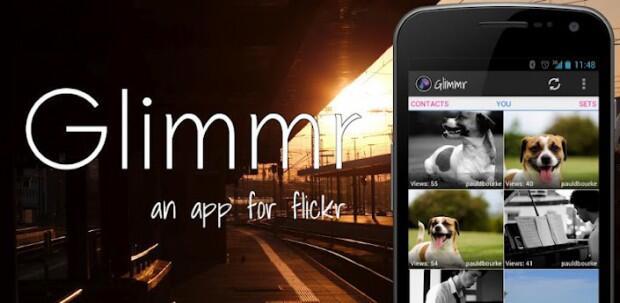 Android app bilder Flickr Google holo Yahoo!