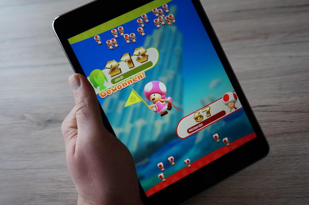 Apple freundesrennen funktion iOS iPad iphone neu run super mario Update