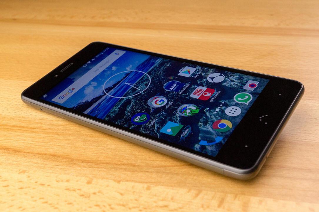 aff Android Aquaris U Plus bq einsteiger Fingerabdrucksensor Fingerprintsensor review Smartphone test Testbericht