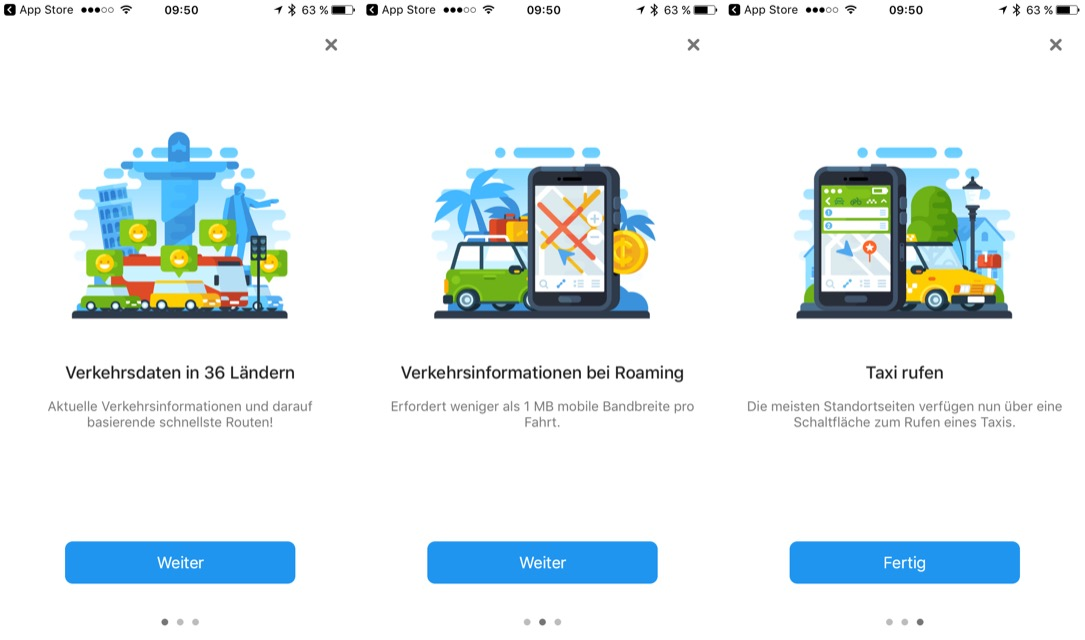 Android app Apple iOS karten Maps navi navigation