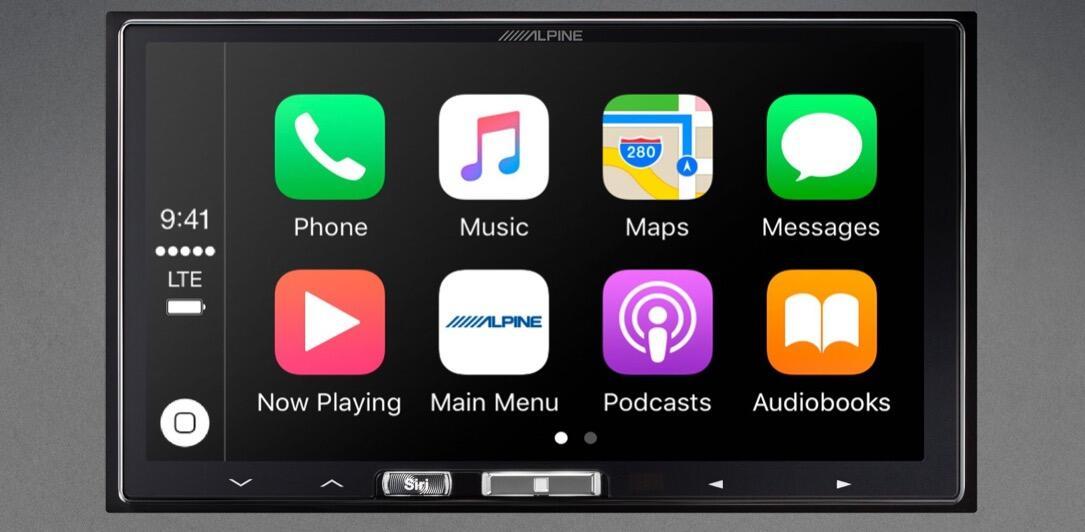 alpine Apple carplay CES2017 WiFi