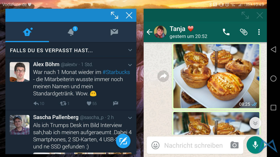 7.0 Android anleitung fenster Nougat