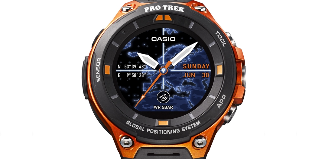 Android Wear android wear 2.0 casio Casio WSD-F20 CES2017 Outdoor smartwatch
