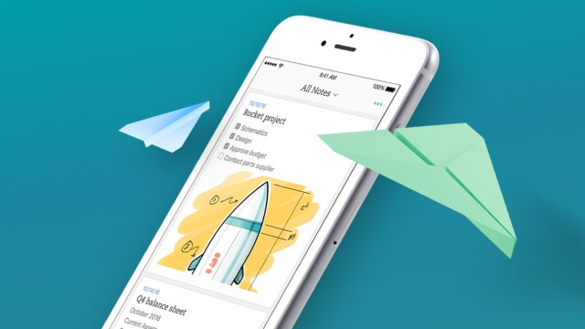 design evernote iOS Update